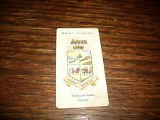 1905 Will's Cigarettes Borough Arms Crewe Tobacco Card Imperial RARE SCARCE NICE