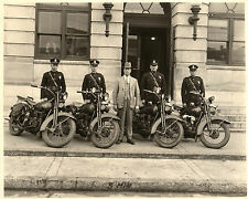 High Point North Carolina 1930 Motorcycle Police w/ Harleys  8 x 10  Photograph