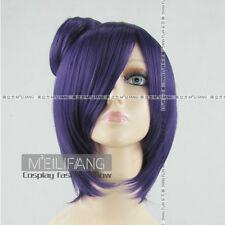Naruto Konan Purple cosplay wig Clip Bun free shipping+wig cap