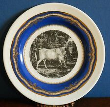 A 16 cm Decorative plate The Chillingham Bull By Thomas Bewick 1789