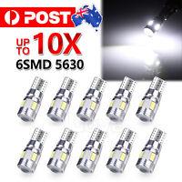 10pcs T10 LED 6SMD W5W 5630 168 194 12V Car Wedge Dash Canbus Parking Side Light