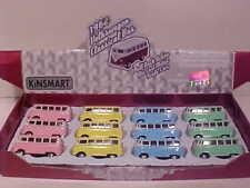 12 Pack of 1962 VW Bus Volkswagen Van Die-cast Car 1:64 Kinsmart 2.5 inch PASTEL