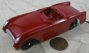 "Vintage 1940's Die Cast 4"" Tootsie Toy Convertible Chevrolet Corvette Car Red"