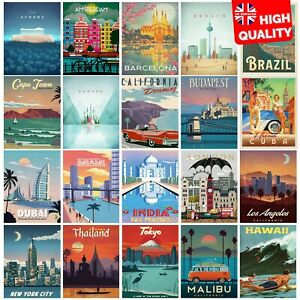 Vintage Travel Retro Posters Prints Art Tourism Holiday Home Decor | A4 A3 A2 A1