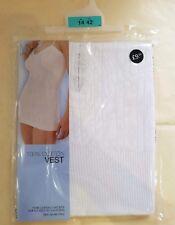 *NEW M/&S Ladies 100/% Cotton Vest*size Uk Size 14