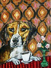 harrier dog coffee art print animals impressionism artist new 13x19