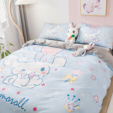3/4PC Cinnamoroll Bedding Cotton Duvet Cover Quilt Cover Set Home Pillow cases