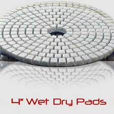 4 Inch Wet Dry Diamond Polishing Sanding Pads Discs Concrete Granite Glass Stone