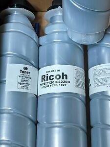 4 x Black TONER for Ricoh 2120D / 2220D Aficio 1022, 1027 Lanier 5622, 5627