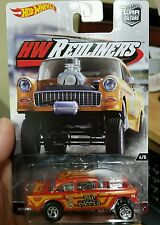 Hot Wheels Redliners '55 CHEVY BEL AIR GASSER w/ REAL RIDERS Car Culture target