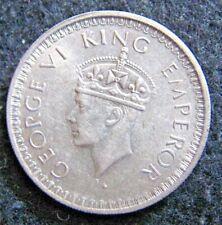 1945(b) Small 5 India-British 1/2 Rupee KM# 552 High Grade Silver au-unc.