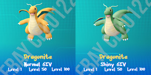 DRAGONITE NORMAL / ⚡SHINY⚡ PERFECT 6IV - POKEMON LETS GO PIKACHU AND EEVEE