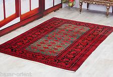 200x130 cm super-fina calidad Afghan Turkman Orient alfombra afganistán 16/11