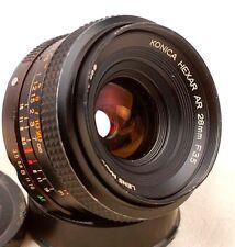 Konica Hexar  28mm f/3.5 Wideangle Lens AR Mount  For SLR/DSLR/Micro 4/3 Camera
