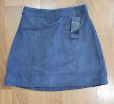 NWT Abercrombie Kids Faux Suede A-Line skirt blue steel