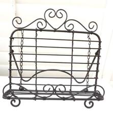 BLACK HEART METAL DESIGN RECIPE COOK BOOK STAND HOLDER GIFT