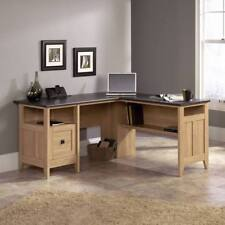 Home Office L-Shaped Desk Study / Executive Desks Storage & Filing Oak / Slate
