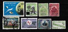 Haiti  Petit lot de 8 timbres