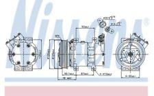 NISSENS Compresor, aire acondicionado RENAULT MEGANE SC?NIC CLIO KANGOO 89109