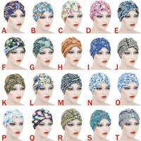 NEW Turban Cap Hijab Headband Bandana Wrap Headband Hat Band Hair Loss O6W1