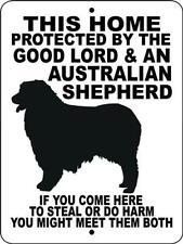 30 Australian Shepherd Aluminum Dog Sign 9x12 white or black background