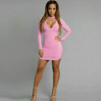 Sexy Women's Summer Lace Long Sleeve Party Night Club Cocktail Short Mini Dress