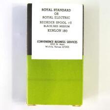 """Vtg Typewriter Ribbon Metal Spool Royal Manual Or Electric Black Red #2 2-3/8"""""""