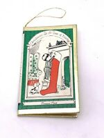Vintage Christmas is a Time of Giving Ornament Mini Book Treasure House