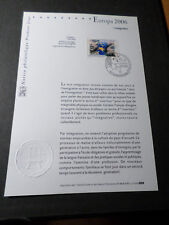 FRANCE 2006 NOTICE FDC timbre 3902, EUROPA, INTEGRATION, 1° JOUR, EUROPE THEME