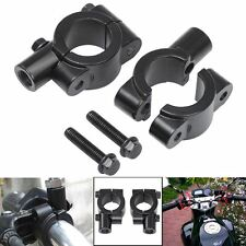 "Aluminium 7-8"" Motorcycle Handlebar Mirror Adaptor Clamp On Mount Brackets-10mm"