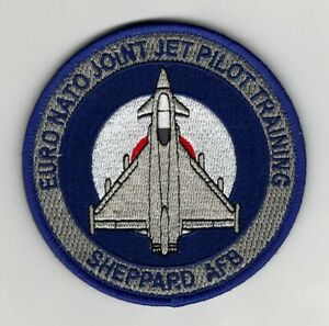 """USAF Patch 80th OSS, UK Pilot Trainee's going the RAF Typhoon, 3.5"""" Sheppard AFB"""