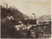 Alhambra Grenade Spagna Albumina Vintage Albume D'Uovo Ca 1880