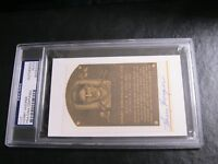 Harry Hooper Autographed HOF Cut PSA Certified Encapsulated