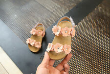 Kids Toddler Baby Girl Sandals Floral Party Princess Sandles Summer Beach Shoes Size 25 Inner Length 15.3cm Pink#2
