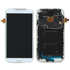 Full LCD Touch Screen Glass Digitizer Frame Per Samsung Galaxy S4 i9505 Bianca