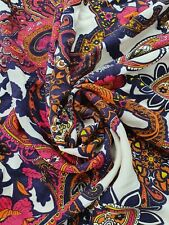 Designer Multicolore Burnout Chiffon Paisley Stampa Floreale Tessuto Matrimonio Luce