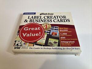 Brøderbund Print Shop Label Creator And Business Cards Software Windows 98 SE