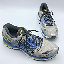 Asics Gel Nimbus 17 Men Blue Silver Running Shoe Size 11.5M Pre Owned