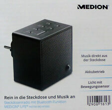 MEDION Steckdosenradio MD 47000 Radio schwarz Bluetooth-Funktion Nachtlicht NEU!