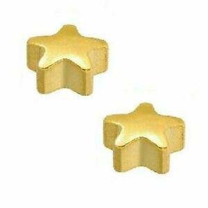 Caflon 24CT Gold Plated - Star Stud (12 Pack)