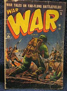 WAR Comics #10 (1952) - Violent Cover !  Robert Q. Sale artwork, Pre-Code ATLAS