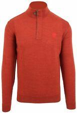 Van Santen & Van Santen Pullover Sweater Troyer Jumper Taglia L LANA WOOL ORANGE
