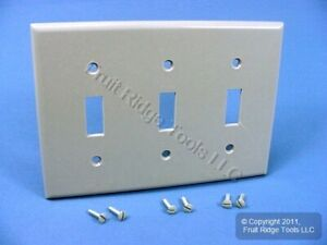 Leviton Gray Standard 3-Gang Toggle Switch Cover Wall Plate Switchplate 87011