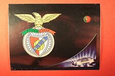 PANINI CHAMPIONS LEAGUE 2012/13 N. 462 BADGE BENFICA BLACK BACK MINT!