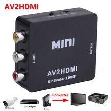 RCA AV Input to HDMI Output Displayer Converter Adapter Composite Upscaler Video
