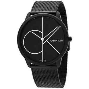Calvin Klein Minimal Quartz Black Dial Men's Watch K3M5T451
