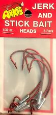 Arkie Jerk & Stick Bait Heads RED 1/32 oz AT-498