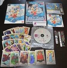 ESCAFLOWNE COLLECTOR BOX LIMITED + TAROT GAME - PS1 PLAYSTATION IMPORT JAPAN