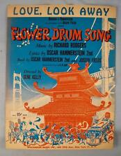 Love Look Away Sheet Music Vintage 1958 Flower Drum Song Rodgers Hammerstein (O)