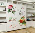 Removable Blooming Peony Wall Sticker Vinyl Art Mural Wall Decal Home Decor Eh